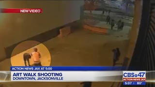 Surveillance video released after double shooting near Jacksonville Art Walk