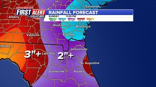 Massive storm to impact Jacksonville, surrounding counties this weekend