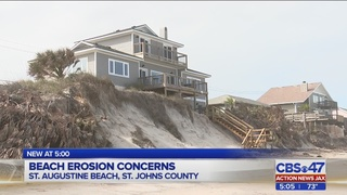 Erosion worries grow in St. Johns County as increased surf moves through