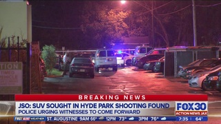 SUV found in deadly shooting; Jacksonville police asking for witnesses…