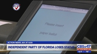 Independent Party of Florida no longer an option for voters