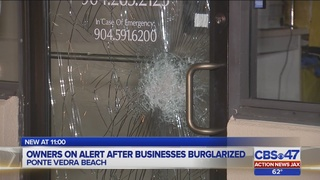 Owners on alert after businesses burglarized