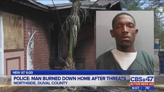 Police: Man burned down home after threats