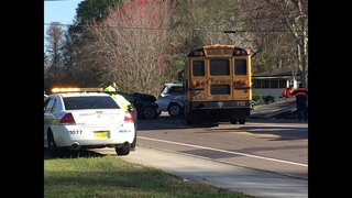 Special needs school bus involved in crash in Jacksonville