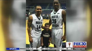 University of North Florida basketball player, boy with cystic fibrosis…