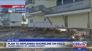 Plan to replenish post-Hurricane Matthew Vilano Beach shoreline on hold