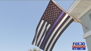 St. Johns County homeowner told to take down Blue Lives Matter flag