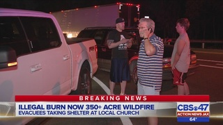 Wildfire evacuees take shelter at local church