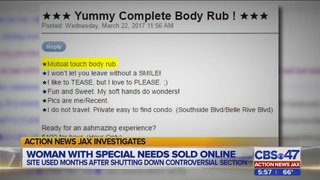Sexual ads still appearing on Jacksonville Backpage 2 months after adult…