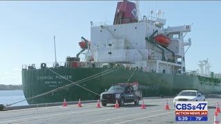 LNG storage tanks arrive at JAXPORT