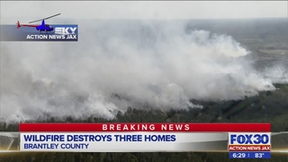 3 homes lost as Brantley County firefighters put out 150-acre wildfire