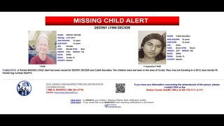 Florida Missing Child Alert issued for 12-year-old girl and 15-year-old…
