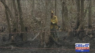 One week later, crews still working to fully contain Nassau County wildfire