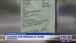 Ticketed for parking at home