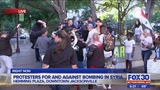 Raw video: Fight breaks out among Jacksonville protesters for and against action in Syria