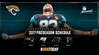 Jaguars preseason game schedule released