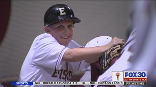 Jacksonville boy gets wish to meet his favorite baseball player