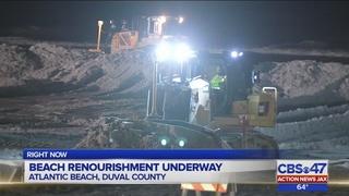 Beach renourishment underway 24/7 on Jacksonville