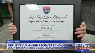 Daughter of fallen Nassau deputy presented with scholarship by Operation…