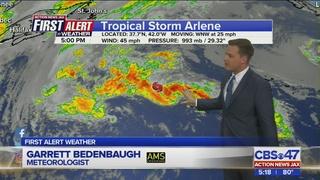 Tracking the Tropics: Tropical Storm Arlene, April 20, 2017