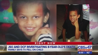 8-year-old Jacksonville boy dies after TV fell on him