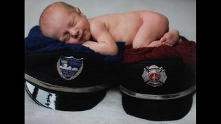 Cute baby alert: Mom is a Jacksonville firefighter, dad is a…
