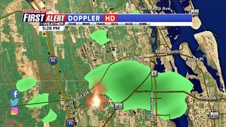 Crews battling brush fire in southern St. Johns County