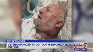 Veteran forced to go to ATM before attack