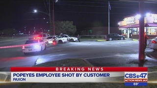 Jacksonville police: Customer shoots employee in leg at Popeyes on…