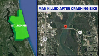 Man dies after crashing bike on St. Johns County bridge