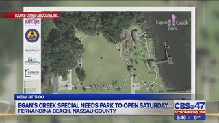 Egans Creek Park, designed to accommodate people with disabilities, set…