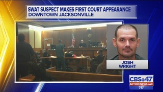 SWAT suspect makes first court appearance