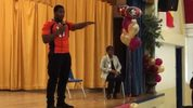 Newly drafted Denver Broncos defensive end and Jacksonville native DeMarcus Walker took time on Tuesday to give back to the community that supported him on his journey to the NFL.