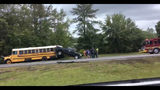 Photos: Truck ends up on school bus on I-295 - (13/16)
