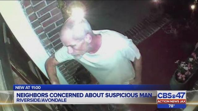Man knocking on doors late at night, asking for money