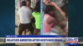 Family: Woman arrested in Jacksonville brawl was confronted at work