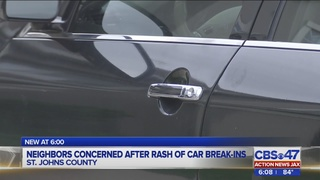 Neighbors concerned after rash of car break-ins
