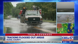 Tracking flooded out areas