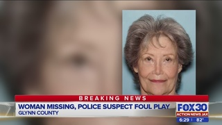 Foul play suspected in the disappearance of 72-year-old Glynn County woman