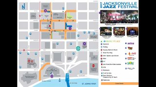 Map of road closures for 2017 Jacksonville Jazz Fest
