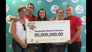 Florida woman wins $5 million with scratch-off ticket