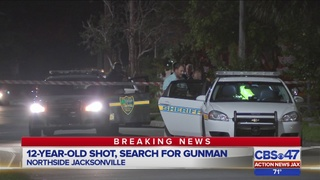 Boy, 12, shot in leg on Jacksonville