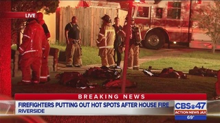 Firefighters respond to house fire in Riverside