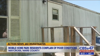 Mobile home park residents complain of poor conditions