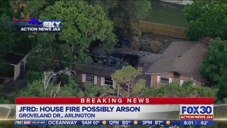 Overnight house fire in Arlington possibly arson