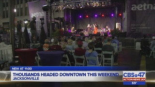 Thousands headed downtown this weekend