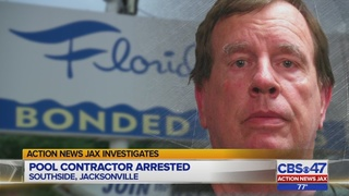 Pool contractor arrested