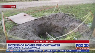 Dozens of homes without water