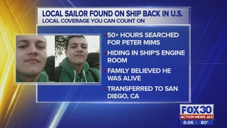 Local sailor who was missing back in U.S.