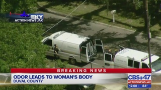 Odor leads to woman